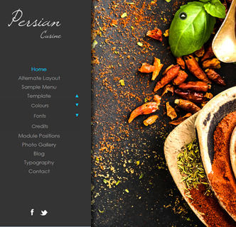 Joomla background slideshow template bootstrap responsove food restaurant