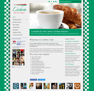 joomla cafe template bakery joomla template green cookery template