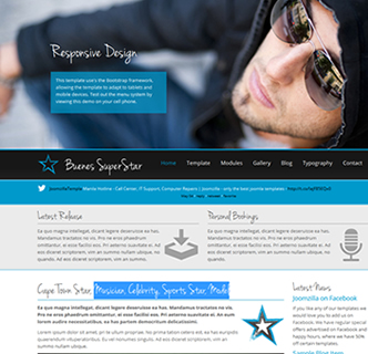 joomla celebrity sportsstar model template