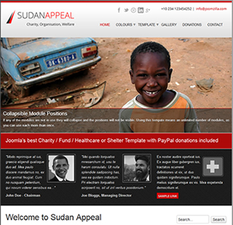 joomla charity template - the best donations / charity website template