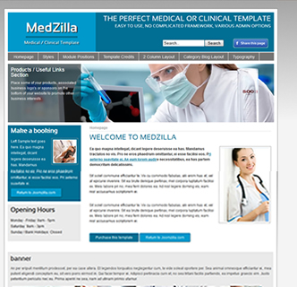 doctors joomla template medical centre template