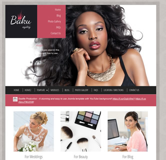 Joomla elegant template beauty makeup