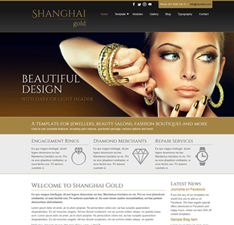 Joomla jewellery jewellers theme website template