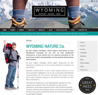 joomla responsive nature template hiking joomla template