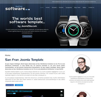 joomla responsive software computers tech template san francisco