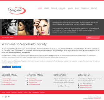 joomla beauty salon template hairdressing