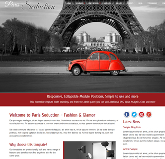 joomla fashion template photography paris france joomla template design