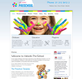joomla nursery baby pre-school template education pastel