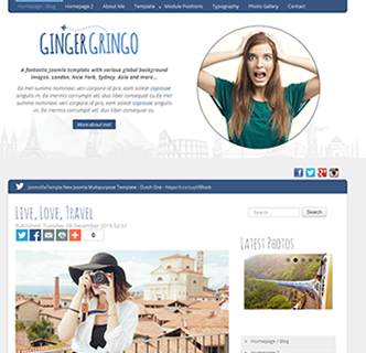 Joomla Blog Template, Joomla Travel Template, Joomla international Personal Business Template