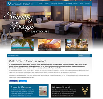 the best joomla hotel restaurant template bootstrap responsive