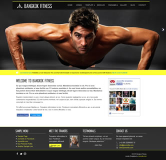 joomla fitness gym template fitness studio template gym