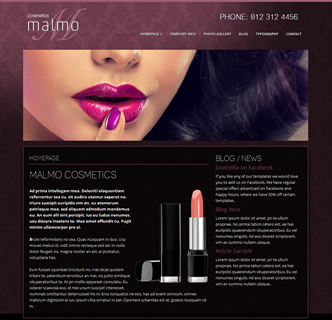 joomla makeup artist template, joomla cosmetics template, joomla beauty salon template