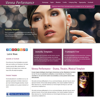 Opera theatre stageschool ballet Musical Joomla template